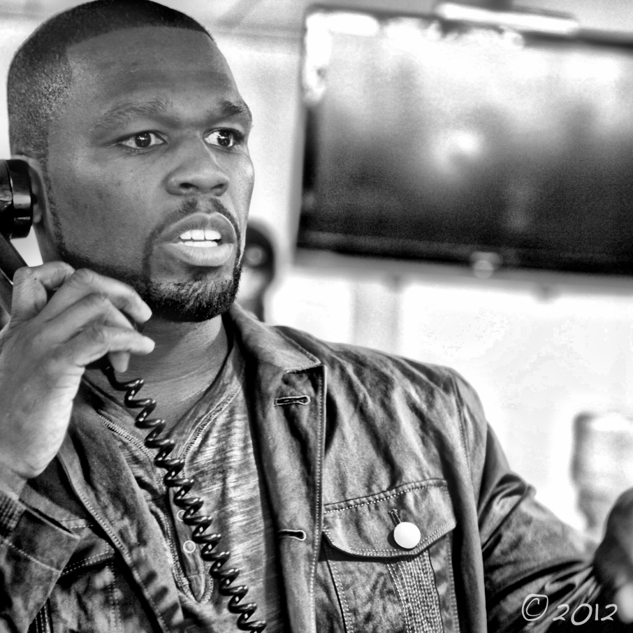 50 cent rapper new york phone black white