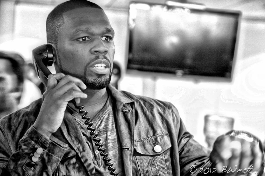 50 cent rapper new york phone black white