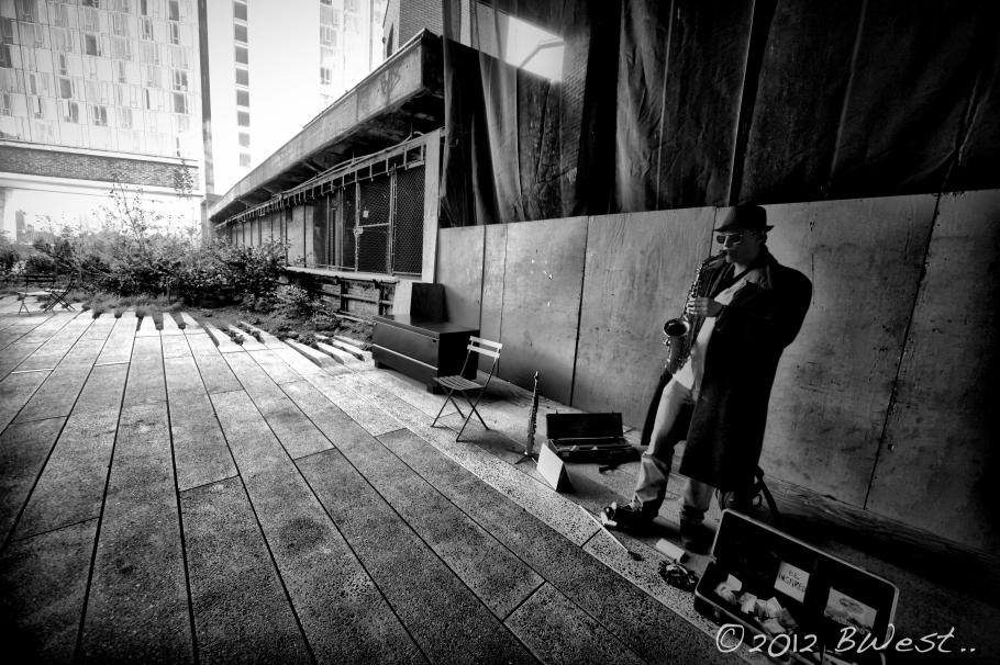 High Line New York Jazz player